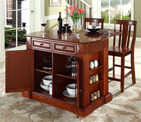 portable kitchen island breakfast bar the ideas of decorating kitchen with two tone kitchen 7556