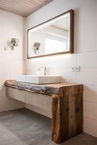 Waschtisch Aus Beton : rustikaler waschtisch im bad anwendung weinfasser design ~ Lizthompson.info Haus und Dekorationen