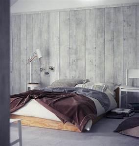 Tapeten Im Schlafzimmer : tapete in holzoptik 24 effektvolle wandgestaltungsideen ~ Michelbontemps.com Haus und Dekorationen