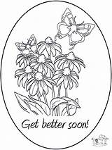 Coloring Pages Better Feel Hope Well Soon Card Printable Cards Template Colouring Bedring God Print Funnycoloring Getcolorings Popular Cat Books sketch template
