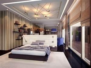 plafond contemporain plafond platre With plafond chambre a coucher