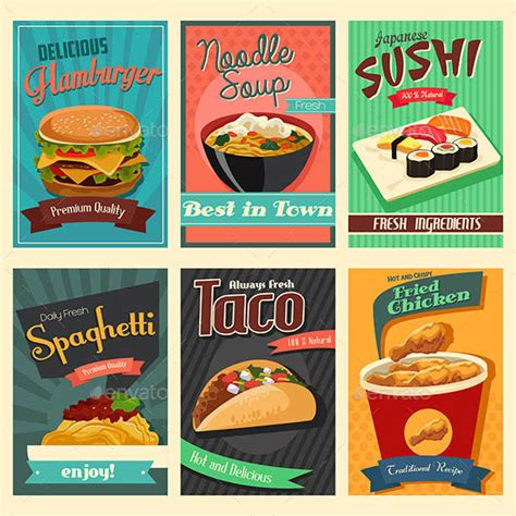 poster cuisine 20 food poster illustration templates design freebies