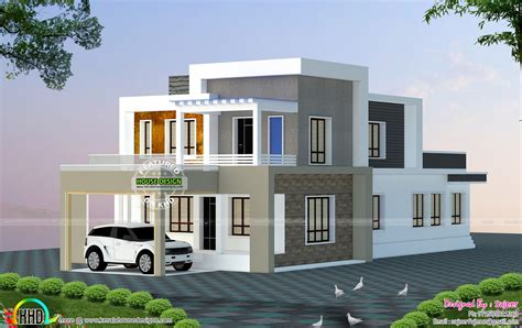 home design 2300 sq ft house all side views kerala home design and