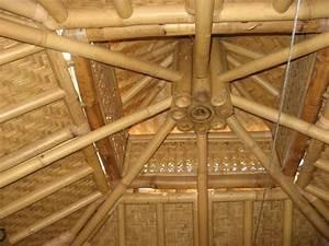 Le Plafond De La Cbane Bambou Joli Travail Photo De