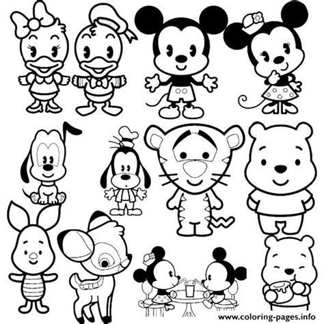 disney cuties tsum tsum coloring pages printable