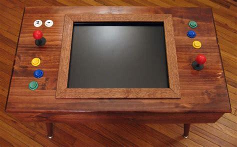mid century modern style arcade cabinet  wood