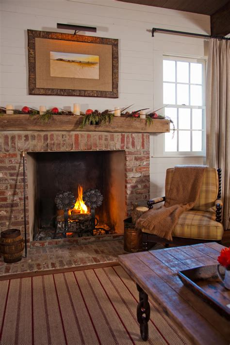 How To Decorate With A Rustic Brick Fireplace In A Living