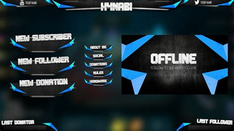 twitch labels templates cool offline screen twitch overlays
