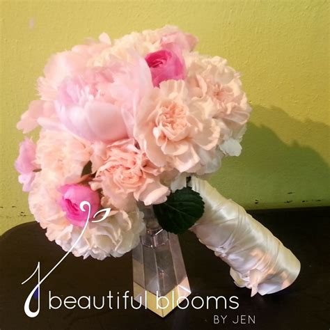 peony bridal bouquet beautiful blooms  jen