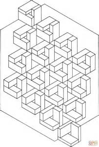 Optical Illusion 10 Coloring Page Free Printable