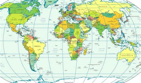 map  countries  continents  travel information