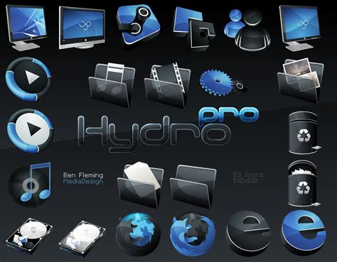 Hydropro -hp- Dock Icon Set By Mediadesign On Deviantart
