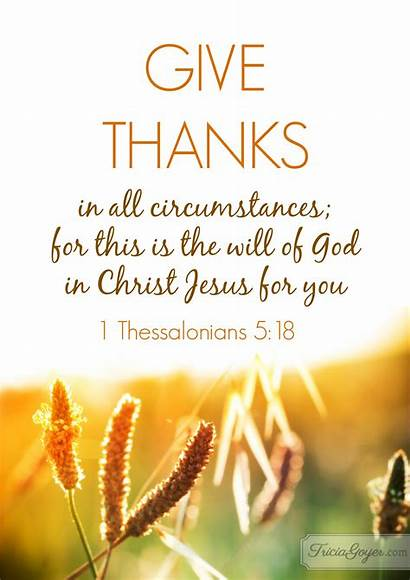 Thanks Give Thessalonians Thanksgiving God Jesus Circumstances