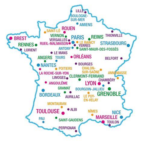 Carte De Avec Villes Principales by Carte De Et Des Principales Villes De