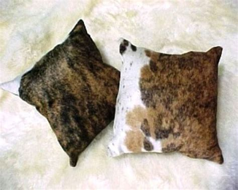 Brindle Cowhide Pillows - brindle cowhide decorative throw pillow