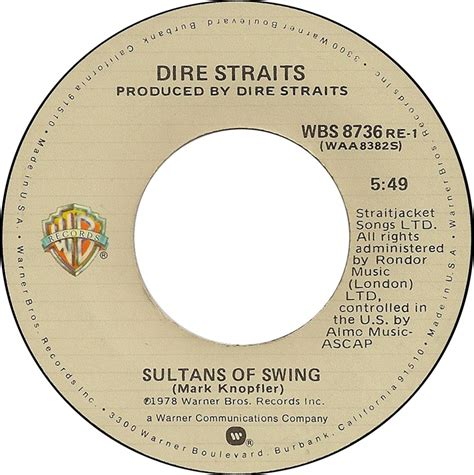 Sultans Of Swing By Dire Straits by Desert Island Singles Sultans Of Swing By Dire Straits