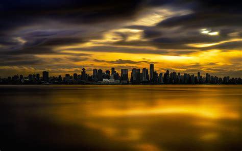 The Sky Is On Fire City Hd Wallpaper 3840x2400 Wallpaper