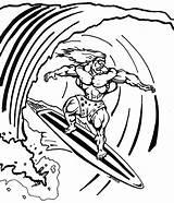 Coloring Surfing Surf Surfboard Surfer Drawing Printable Silver Surfboards Parasail Template Colorings Boards Getdrawings Awesome Getcolorings Drawings Desktop Designlooter Sketch sketch template