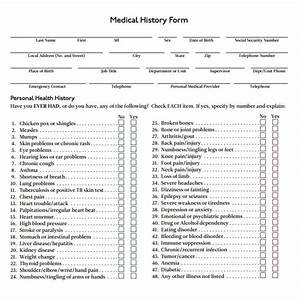 medical history form 7 download free documents in pdf word With medical history form template pdf