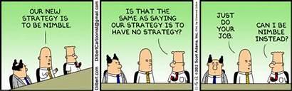 Dilbert Strategy Business Nimble Agile Strip Comic