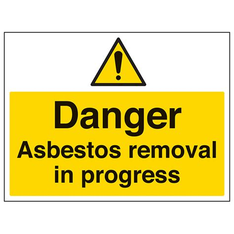 danger asbestos removal large landscape safety signs