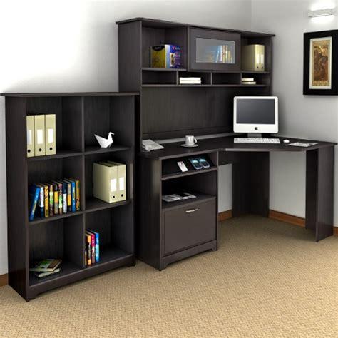 Bush Cabot Corner Desk With Hutch And Bookcase  Desks At