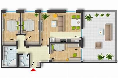 Plan Rendering Floor Photoshop Architectural Architecture Arch