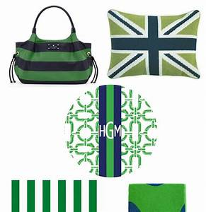 Claire Bock: Color Story Monday: Kelly Green and Navy Blue