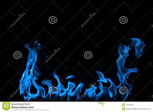 Blue Fire Isolated On A Black Background. Royalty Free ...