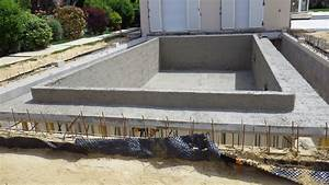 la technique de la piscine beton arme monobloc With construction piscine beton technique
