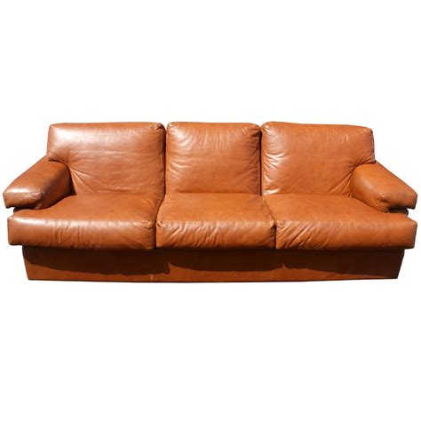 mid century leather  seater sofa couch