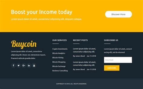 Free & premium cryptocurrency & bitcoin website templates for miners, crypto consultants here is a collection of 16+ best cryptocurrency & bitcoin website templates that you can download for few. BuyCoin - Bitcoin And Cryptocurrency Responsive HTML Website Template #Website #Cryptocurrency # ...