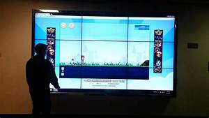 Demostration Of Touch Screen Video Wall 3x3 - Laxton