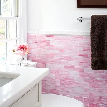 Glass Backsplash Ideas For Kitchens - pink backsplash design ideas