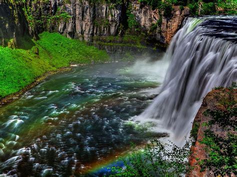 Landscape Waterfall Rocks Trees Hd Wallpaper 142086