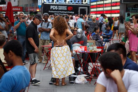 Topless In Times Square A Legal View The New York Times