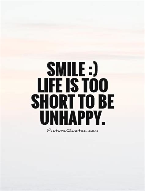 smile life   short   unhappy picture quotes