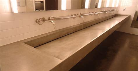 concrete trough sink concrete sinks and vessels the concrete