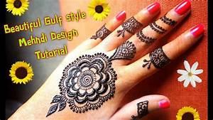 How to apply easy simple gulf dubai style henna mehndi ...