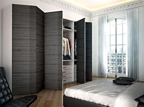 les placards de chambre a coucher les portes de placard pliantes pour un rangement joli et