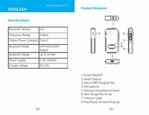 Mpow Technology Bh129b Bluetooth Music Receiver User Manual