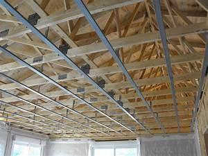 Faux Plafond Placo Sur Rail : plafond placo sur rail john anto ~ Melissatoandfro.com Idées de Décoration