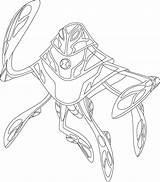Ben Coloring Pages Alien Ultimate Printable sketch template