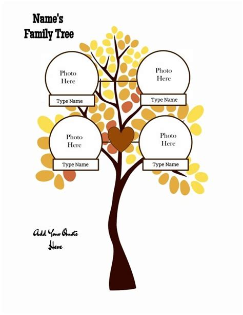 Family Tree Templates With Siblings by Family Tree Template With Siblings Or Without Siblings