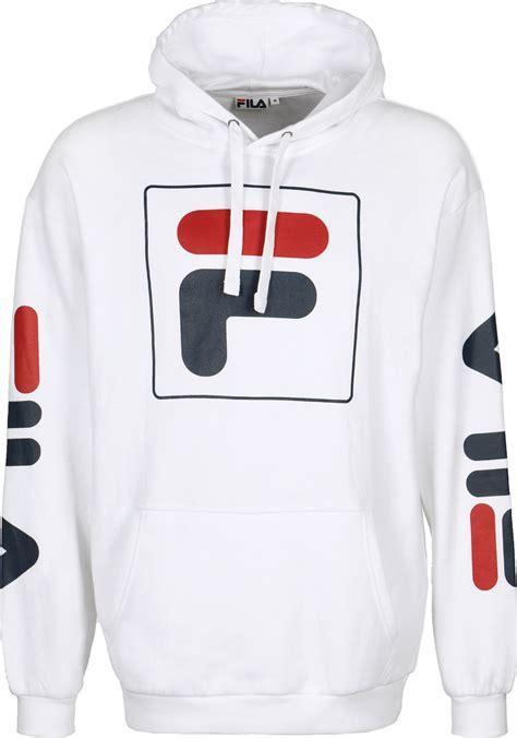 check sweatshirt fila total hoodie white