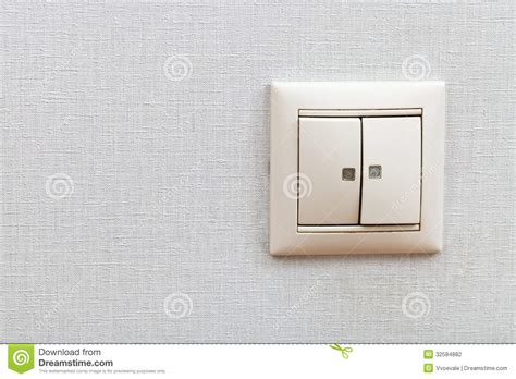 wall mounted light switch stock photography image 32584882