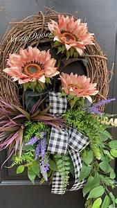 Sunflower, Wreath, Front, Door, Wreath