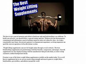 Top Weight Lifting Supplements So You Can Get Better Results