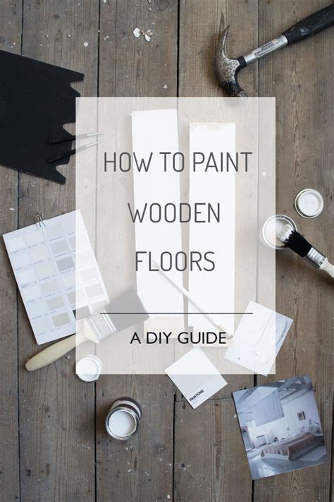 paint wooden floors  diy guide curate