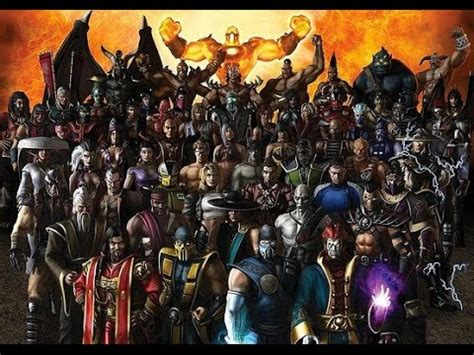 Mortal Kombat All Characters All Mortal Kombat Characters Ever Up To X Youtube